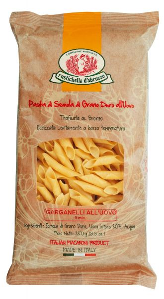 Rustichella Pasta - Garganelli, Eiernudeln