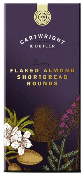 Flaked Almond Shortbread Rounds - Butterkeks mit Mandeln