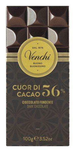Venchi Tafel 56 % Dark Chocolate - Zartbitterschokolade