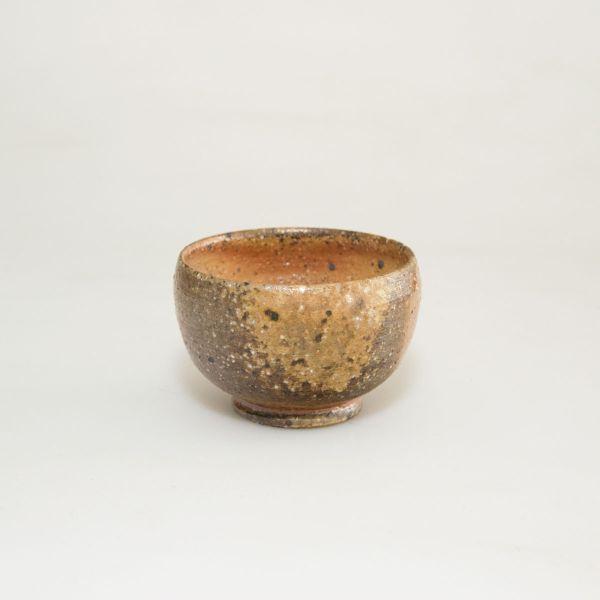 Teeschale - Teecup - Handgemacht - Flach - Feine dunkle ocker und braun Töne