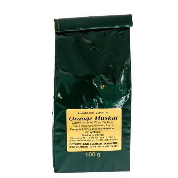 Grüner Tee Orange Muskat