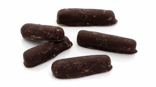 Ingwerstäbchen mit Schokolade (60% Kakaogehalt)