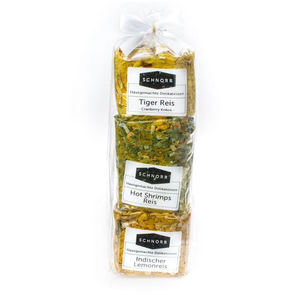 3er Set Hausgemachte Reismischungen Nr. 11 - Tiger Reis - Hot Shrimps Reis - Indischer Lemonreis