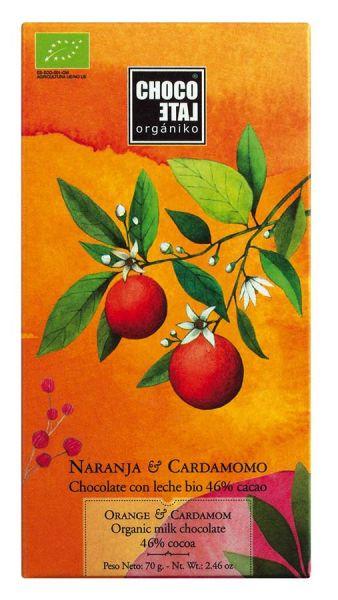 Bio Milk Chocolate 46 % Cocoa Orange-Kardamom