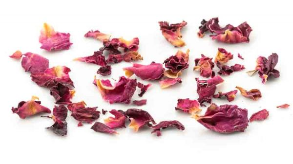 Rosenblütenblätter - geschnitten