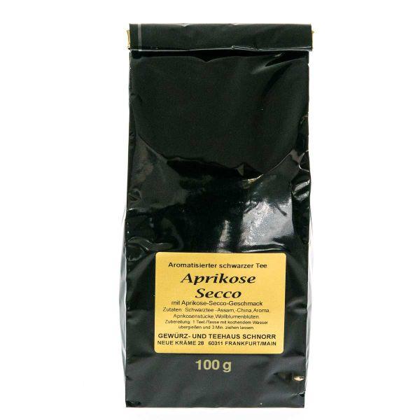 Schwarzer Tee Aprikose-Secco