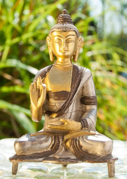 Kanakamuni Buddha, Messing, 13 cm
