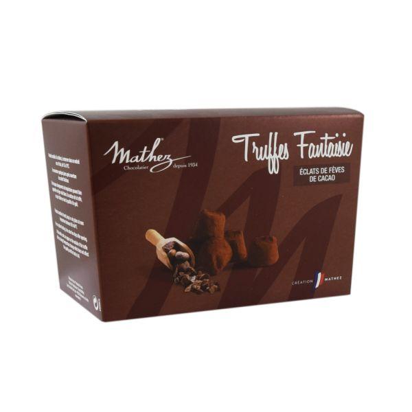 Mathez Schokoladentrüffel mit Kakaosplittern