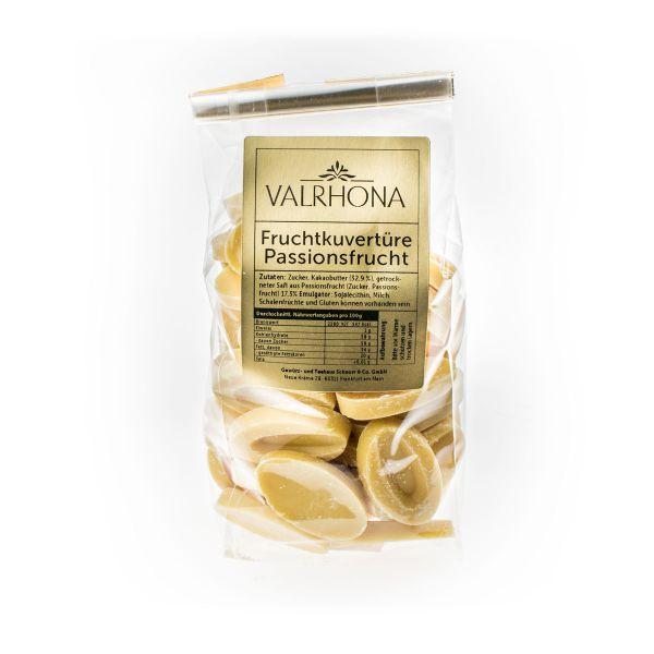 Valrhona Fruchtkuvertüre Chips - Passionsfrucht