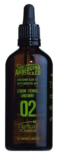 02 Olivenöl mit Zitrone, Fenchel und Minze