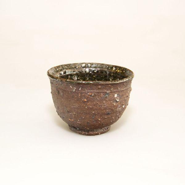 Teeschale - Teecup - Handgemacht - Dunkelrot mit wunderschöner Struktur
