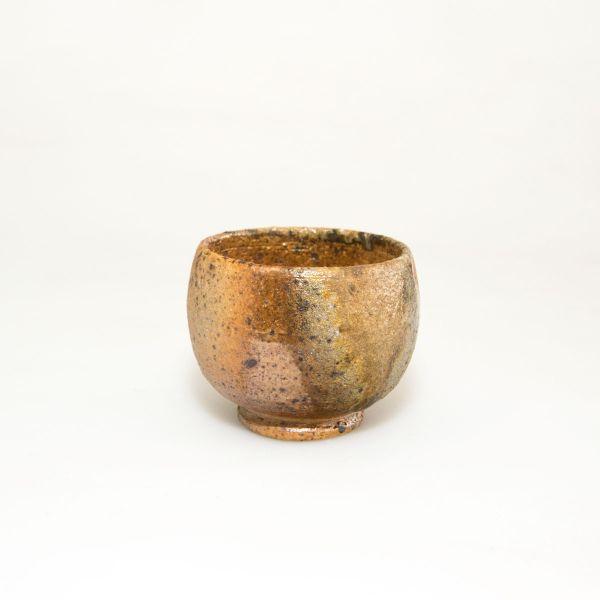 Teeschale - Teecup - Handgemacht - Feine helle und dunkle ocker Töne