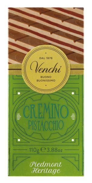 Venchi Tafel Pistachio Cremino - Gianduia-Pistazienschokolade, leicht gesalzen