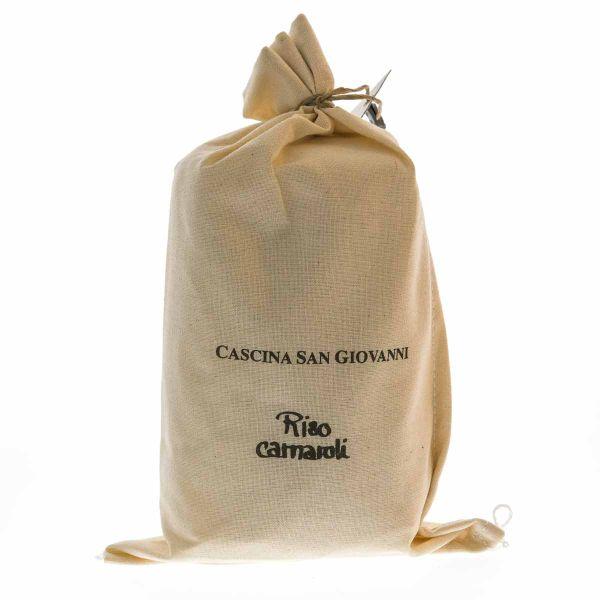 Carnaroli Superfino (Lombardei) im Baumwollsäckchen.
