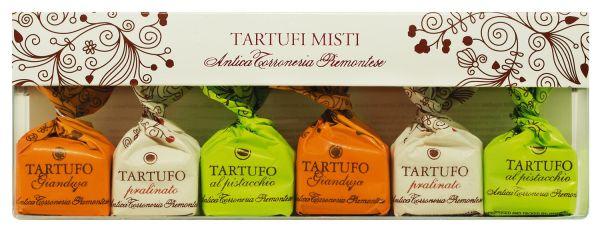 Schokoladentrüffel gemischt - Tartufi Misti 6er Etui