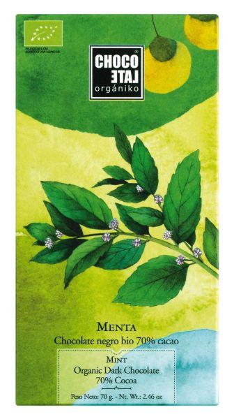 Bio Dark Chocolate 70 % Cocoa with Mint
