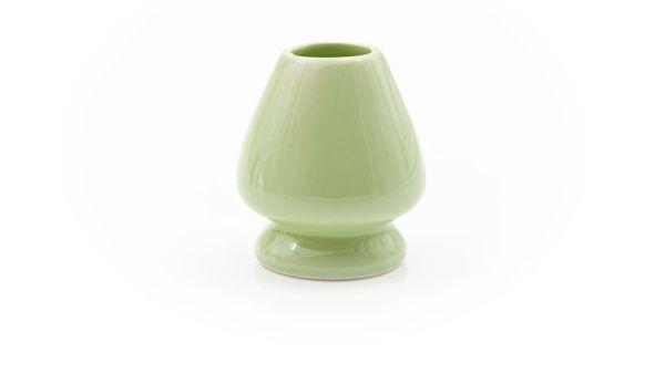 Grüner Matchabesen-Ständer - Chasen-Ständer aus Porzellan