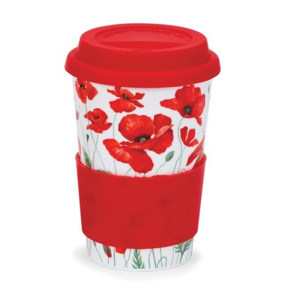Travel Mug Poppies Red 0,44 l