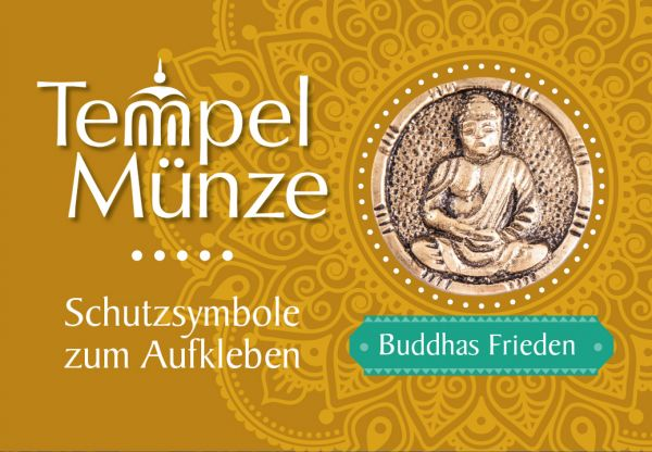 Tempelmünze Buddha Messing 30 mm