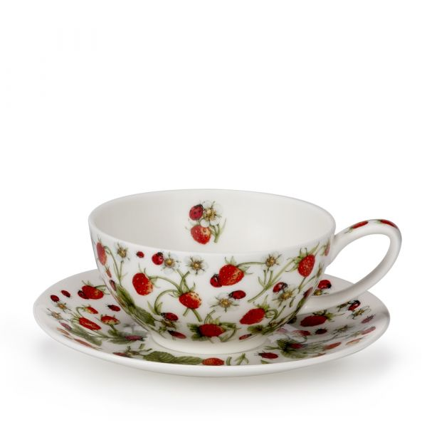 • Tea for One Cup/Saucer Dovedale Strawberry 0,2L - Dunoon