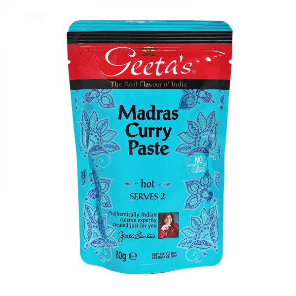 Geeta's Madras Curry Paste - hot