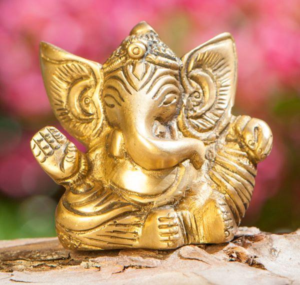 Ganesha, Messing antik, 5,5 cm