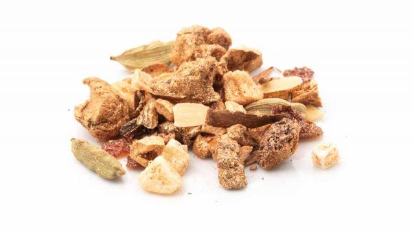 Früchtetee Golden Almond für Ihren goldenen Mandel Glitzer Moment