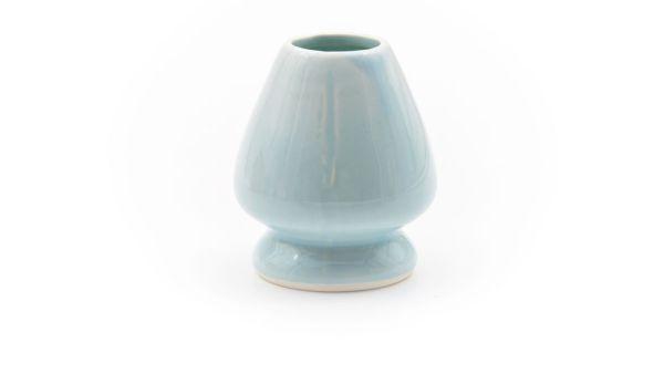 Blauer Matchabesen-Ständer - Chasen-Ständer aus Porzellan