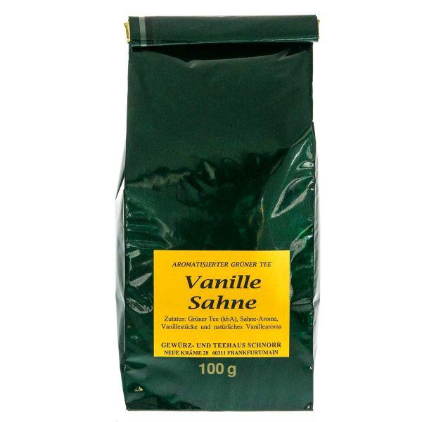 Grüner Tee Vanille Sahne