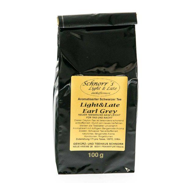 Light & Late Earl Grey Schwarztee - entkoffeinierter Teegenuss auch für späte Abendstunden