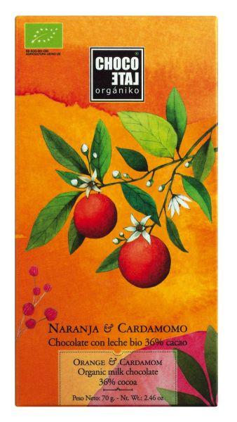 Bio Milk Chocolate 36 % Cocoa Orange-Kardamom