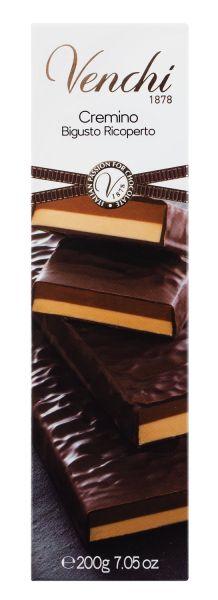 Venchi Covered Cremino Soft Bar - Milch-Gianduiacreme mit Zarbitterschokolade umhüllt
