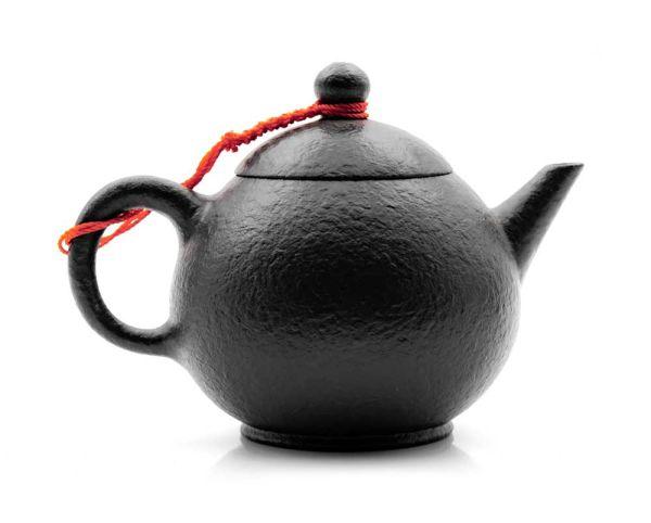Oolong- und Pu Er-Kännchen handgemacht mit Tonsieb 190 ml - schwarz / Tonkanne