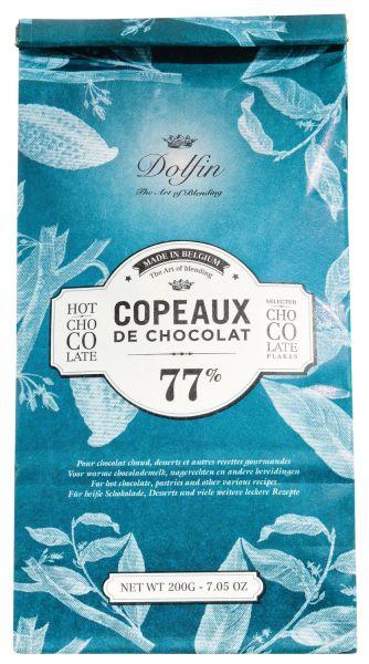 Dolfin Copeaux de Chocolat - Trinkschokolade in Flocken 77% Tüte