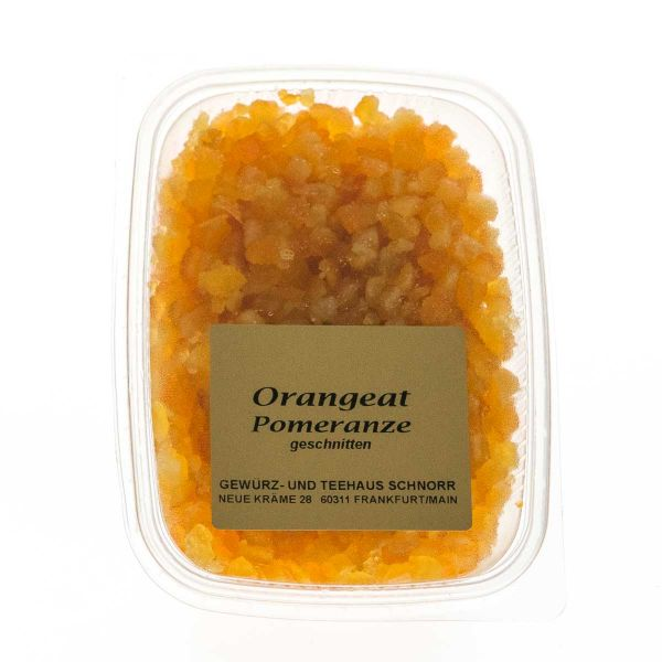 Orangeat geschnitten