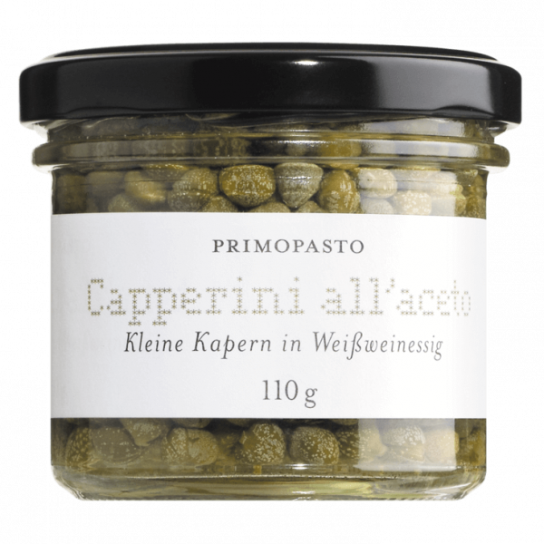 Kleine Kapern in Weinessig / Capperini all'aceto