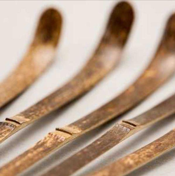 Dunkler Matchalöffel - Chashaku aus Bambus