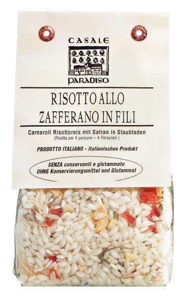 Risotto Reis mit Safranfäden