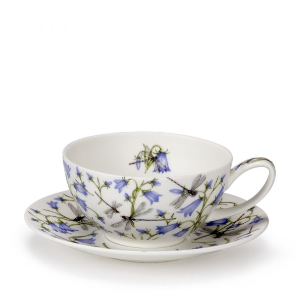 • Tea for One Cup/Saucer Dovedale Harebell / Glockenblume 0,2L - Dunoon