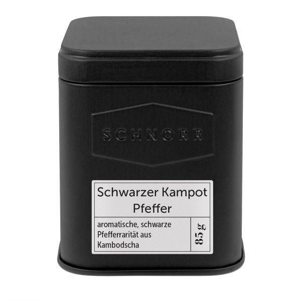 Schwarzer Kampot Pfeffer Dose