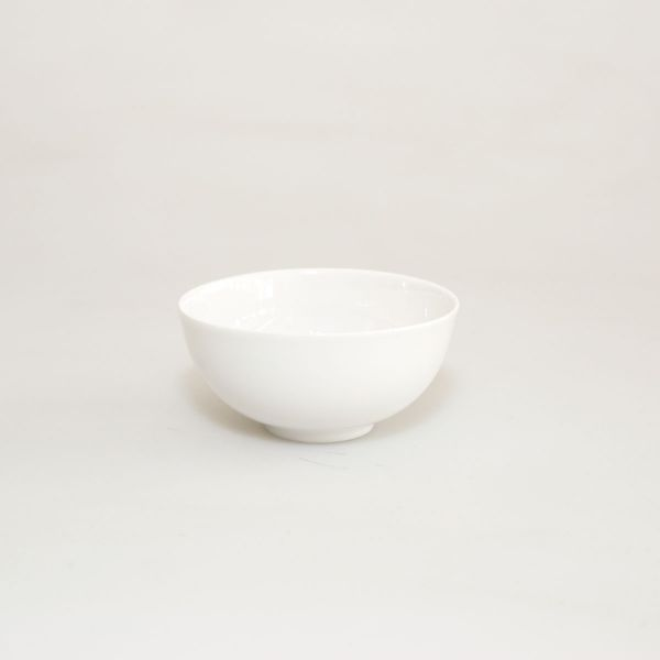 Teeschale Eierschalenporzellan weiß mittel