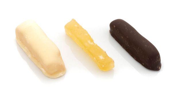 Ingwerstäbchen - gemischt kandiert und schokoliert