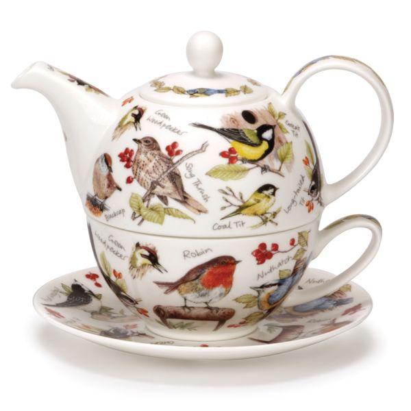 Tea for One BIRDLIFE - Kanne 0,5L / Tasse 0,25L - Dunoon