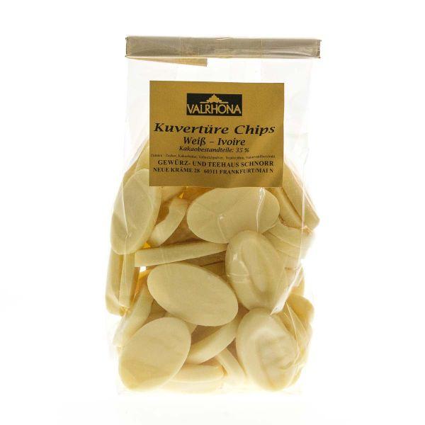 Valrhona Kuvertüre Chips - Weiß Ivoire
