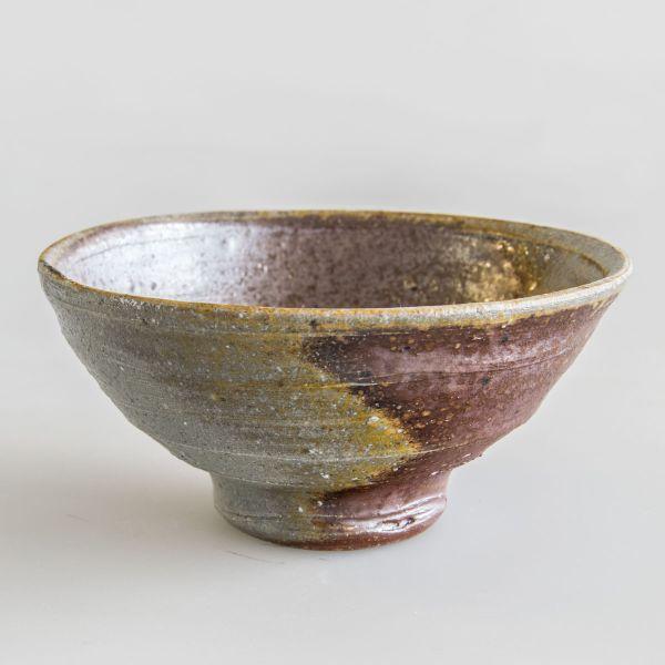 Teeschale - Handgemacht - Feine dunkle und helle ocker,braun und violett Töne