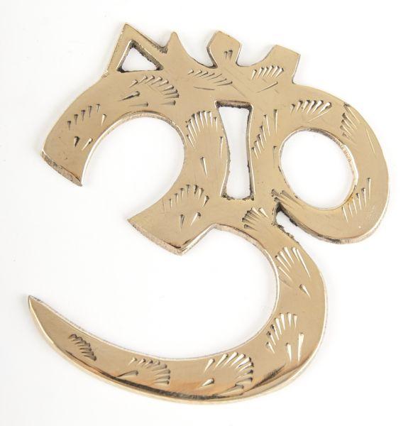 OM-Wandsymbol Messing 8 cm