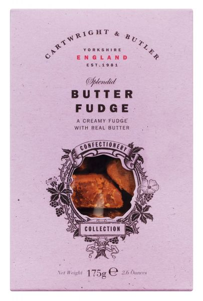 Butter Fudge in rosa Karton
