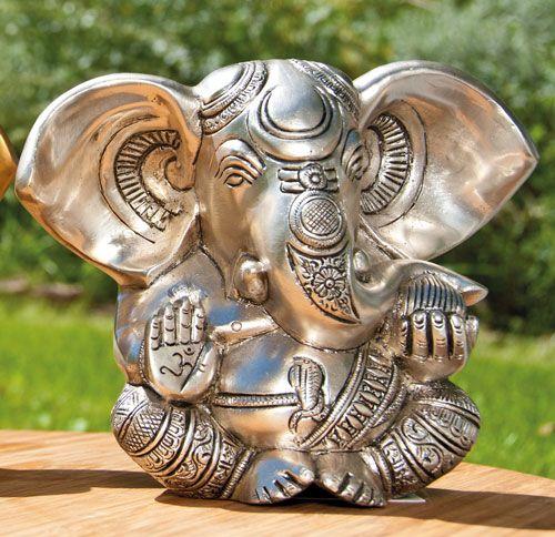 Ganesha, versilbert, 13 cm