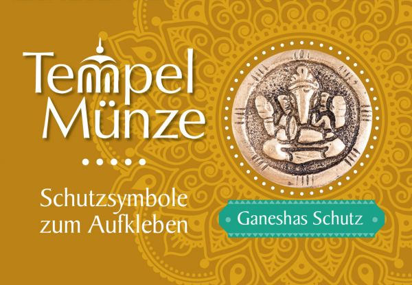 Tempelmünze Ganesha Messing 30 mm