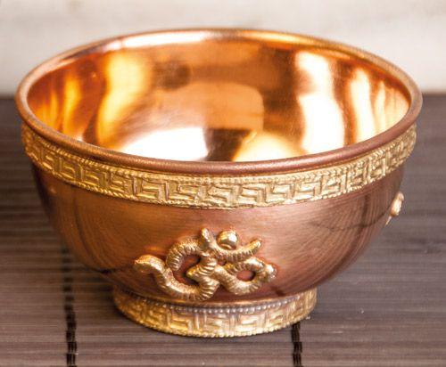 Räucherschale Om, Kupfer, 8 cm